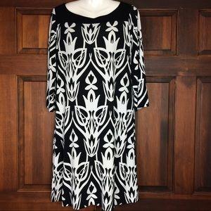 Dress Barn Women's Dress Black White Size 12